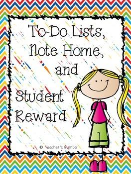 To-Do Lists, Note Home, and Student Reward Printables