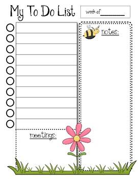 To Do Lists - Organization