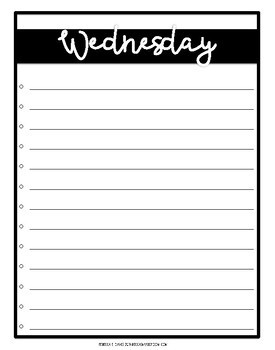 To Do Lists in Black and White | Teacher Organization and Weekly Planning