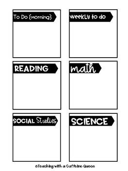 To Do Post It Notes - Teacher Organization