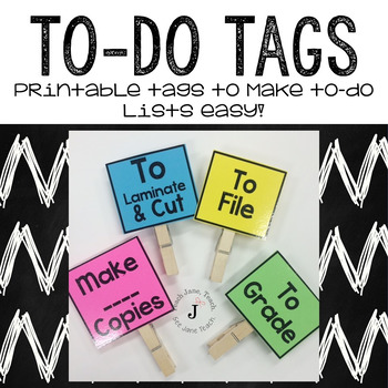To-Do Tags for Volunteers and Helpers