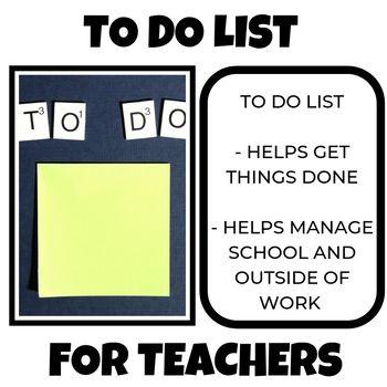 To Do list for teachers