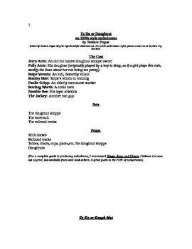 To Do or Doughnut (Melodrama Script)
