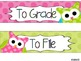 To File, To Grade, To Copy Desk Organizer - Bright Polka Dots