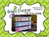 To File, To Grade, To Copy Desk Organizer - Bright Tonal Chevron