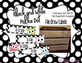 To File, To Grade, To Copy, To Do Desk Organizer - Black & White Polka Dot