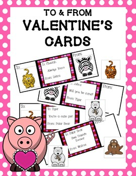 To & From Valentine's Cards