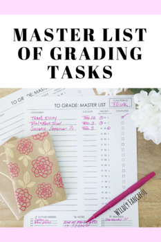 To Grade Master List: Grading To-Do List for Teachers