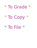 To Grade To Copy To File
