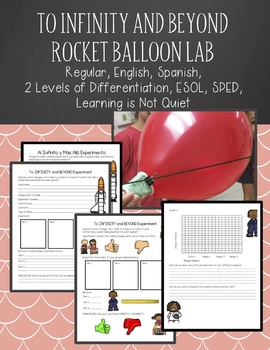 To Infinity and Beyond, Rocket Balloon Lab (English, Spanish, SPED, ESOL)