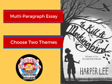 To Kill A Mockingbird: Write A Multi-Paragraph Essay on Two Themes