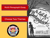 To Kill A Mockingbird: Write A Multi-Paragraph Essay on Two Themes