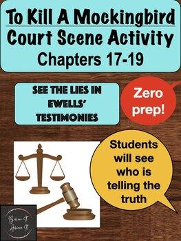 To Kill A Mockingbird Activity - Court Scene