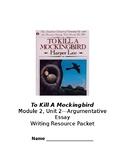 To Kill A Mockingbird Argumentative Essay Outline Packet