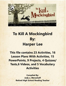 To Kill A Mockingbird By Harper Lee Teacher Supplemental Resources Fun Engaging