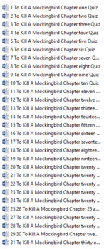 To Kill A Mockingbird CHAPTER QUIZZES COMPLETE SET: 10-45 Questions Per Chapter!