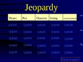 To Kill A Mockingbird Chapter 1-5 Jeopardy Game Review