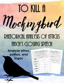 To Kill A Mockingbird Chapter 20: Rhetorical Analysis of Atticus' Closing Speech
