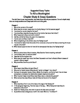 To Kill A Mockingbird Chapter Study & Essay Guide
