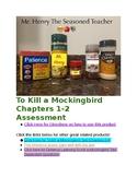 To Kill A Mockingbird Chapters 1 & 2 PARCC Aligned Test & Essay