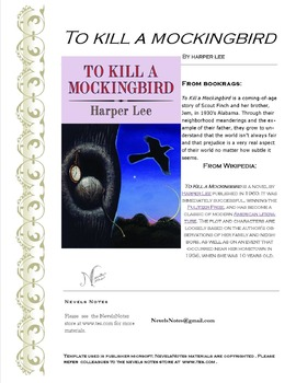 To Kill A Mockingbird Chapters 1-3 Check Quiz