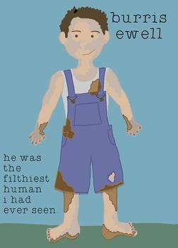 To Kill A Mockingbird Character Poster - Burris Ewell