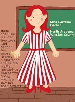 To Kill A Mockingbird Character Poster - Miss Caroline