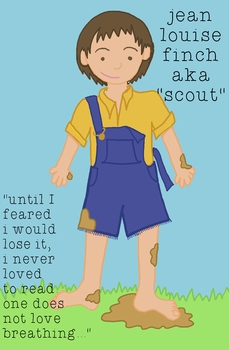 To Kill A Mockingbird Character Poster - Scout Finch