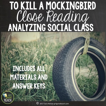 To Kill A Mockingbird Close Reading and Writing Chapters 1-4