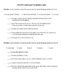 To Kill A Mockingbird Courtroom Vocabulary Quiz