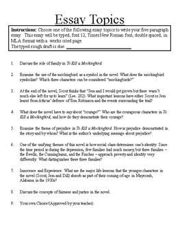 To Kill A Mockingbird Essay Package