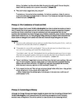Essay On Milkman To Kill A Mockingbird Essay Prompts To Be An American Essay also Marijuana Essay To Kill A Mockingbird Essay Prompts By Brittany Amato  Tpt Persuasive Essay Conclusion
