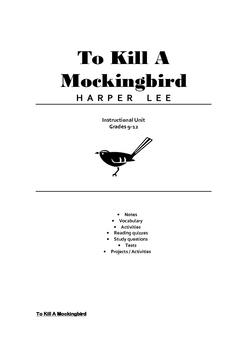 To Kill A Mockingbird Full Teaching Unit