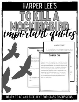 To Kill A Mockingbird Important Quotes