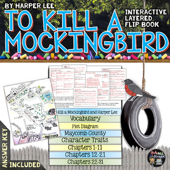 TO KILL A MOCKINGBIRD NOVEL STUDY LITERATURE GUIDE FLIP BOOK