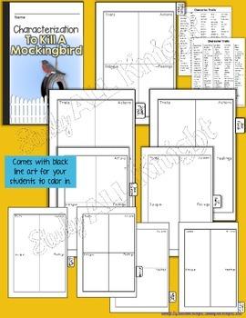 TO KILL A MOCKINGBIRD: INTERACTIVE NOTEBOOK CHARACTERIZATION MINI FLIP