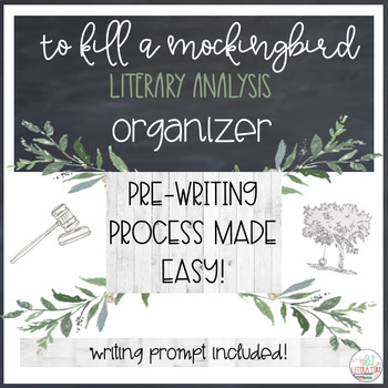 To Kill A Mockingbird Literary Analysis Organizer