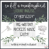 To Kill A Mockingbird Literary Analysis Organizer