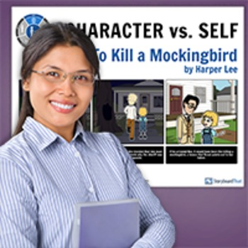 To Kill A Mockingbird: Literary Conflict - Character vs. Self Poster