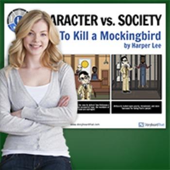 To Kill A Mockingbird: Literary Conflict - Character vs. Society Poster