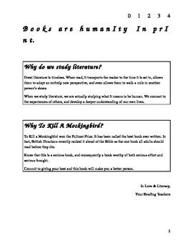 To Kill A Mockingbird Literary Course Book