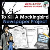 To Kill A Mockingbird Newspaper Project - PRINT & DIGITAL DISTANCE LEARNING