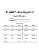 To Kill A Mockingbird Novel Study Questions