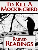 To Kill A Mockingbird Paired Readings (6 Total)