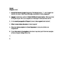 To Kill A Mockingbird Part I Study Guide
