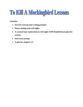To Kill A Mockingbird Part One Handouts