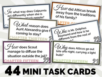 {To Kill A Mockingbird} Quick Revision TASK CARDS