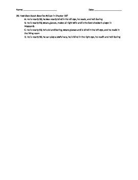 To Kill A Mockingbird Quiz Chapters 6-10