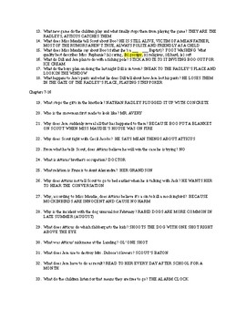 To Kill A Mockingbird Quiz chapters 1-16 and key