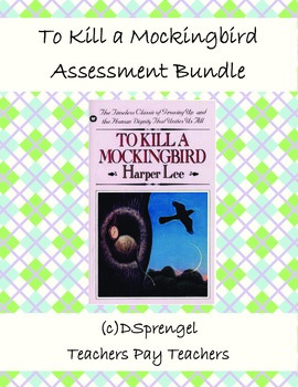 To Kill A Mockingbird Quizzes and Test Assessment Bundle w